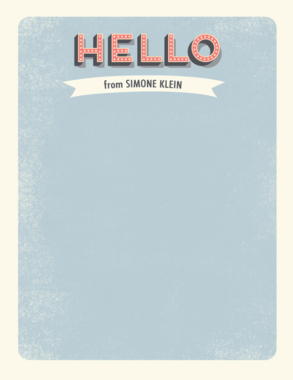 personal stationery - Retro Hello by BeachPaperCo