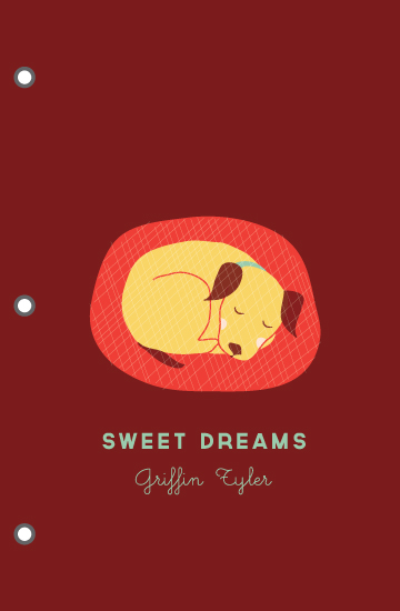 journals - Sweet Dreams Little Pup by Monica Schafer