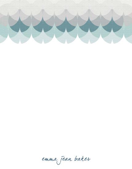 personal stationery - Seafoam Serenity by Jennifer Fuller