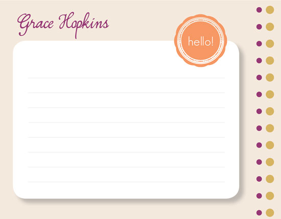 personal stationery - Hello There by Jennifer Fuller
