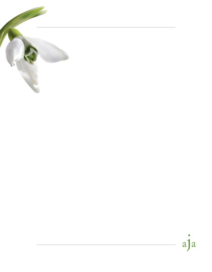 personal stationery - White Orchid by Jennifer Fuller