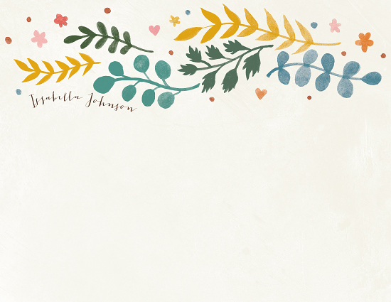 personal stationery - Leaves of Autumn  by Four Wet Feet Studio