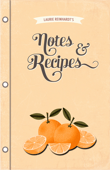 journals - Orange Recipes by BeachPaperCo