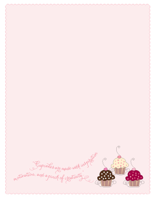personal stationery - Cupcakes Galore by Yvette Slaney