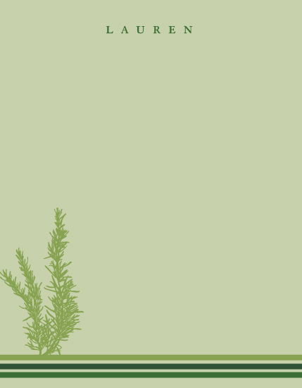 personal stationery - Rosemary by Erin Pfister