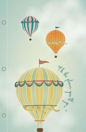 journals - Vintage Balloons by Jennifer Fuller