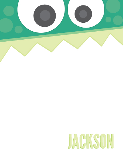 personal stationery - Little Monster by Jessie Steury