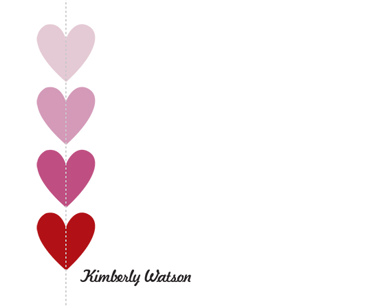 personal stationery - stiched hearts by EKJ designs