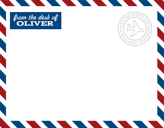 personal stationery - air mail by EKJ designs