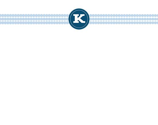 personal stationery - Dot Monogram by EKJ designs