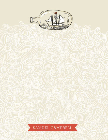 personal stationery - Sail Away by Pistols