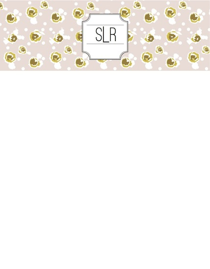 personal stationery - Polka Dot Rosies by Samantha Kachel