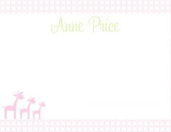 Sweet Weave Giraffe Notecard