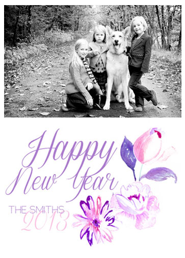 new year's cards - Pinkish Floral by Chelsea Munizzi