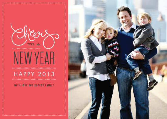new year's cards - Cheers to the new year by Jennifer Wick