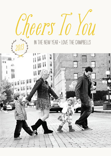 new year's cards - Cheers to You by Amber Barkley