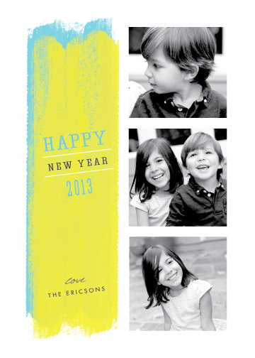 new year's cards - Paint strokes by Stacey Meacham