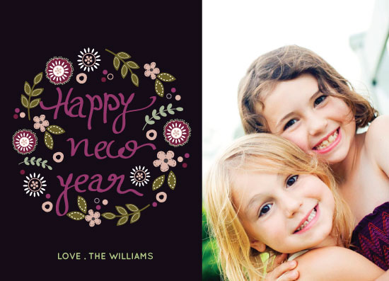 new year's cards - new year floral by Anupama