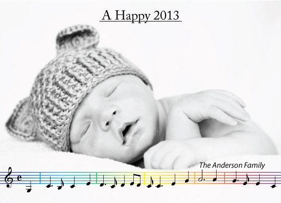 new year's cards - musical by Elina