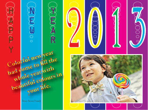 new year's cards - Colorful New Year by Pirediba Parameswaran