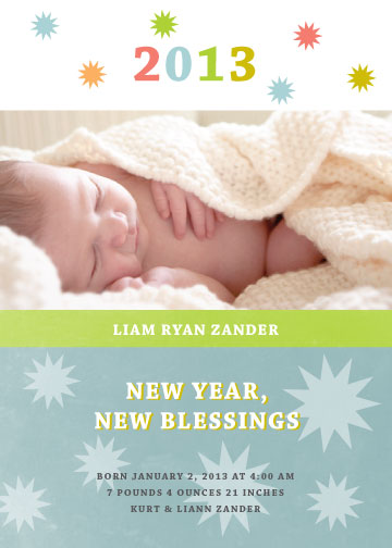 new year's cards - New Year's Blessings by Jenn Johnson