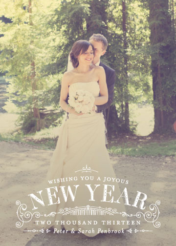 new year's cards - Joyous Year by Sarah Guse Brown