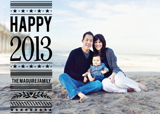 new year's cards - Happy 2013 Block by A. Dolan