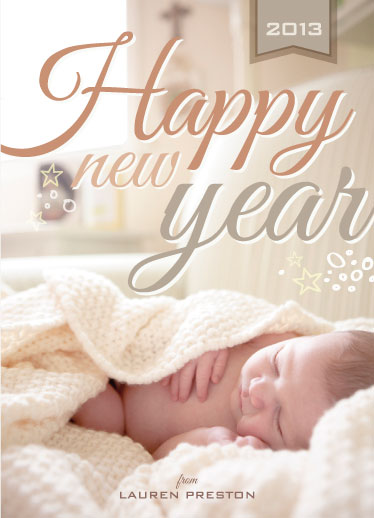 new year's cards - Stars and Bubbles by Sara C.