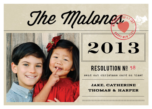 new year's cards - the resolution by Sara Hicks Malone