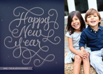 Full Moon New Year Photo Card