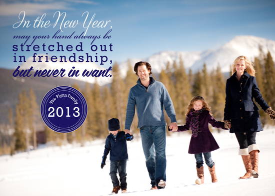 new year's cards - May You Never Want by BitsyCreations