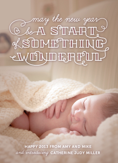 new year's cards - Start Something Wonderful by Dawn Jasper