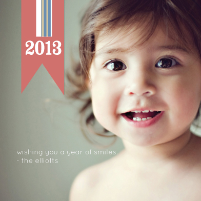 new year's cards - Banner Stripes 2013 by Lyndee