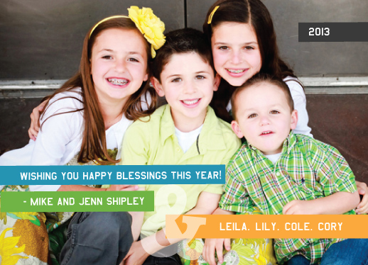 new year's cards - Happy Blessings by Lyndee