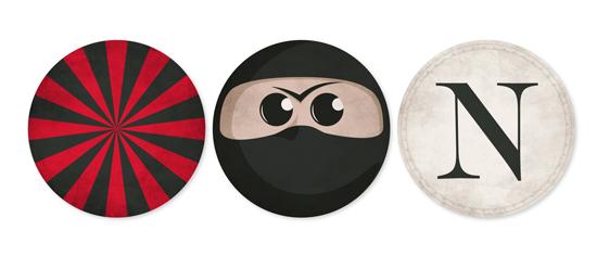 party decor - Super Ninja by GeekInk Design