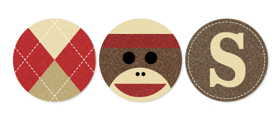 party decor - Sock Monkey by Jessie Steury