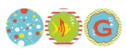 party decor - Fishy Birthday by Caitlin Slomski