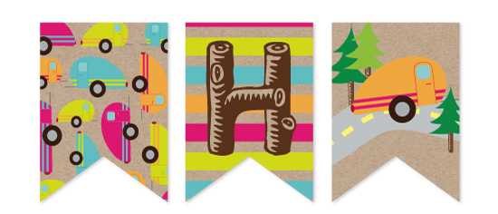 party decor - Happy Trails by Emily - Fresh Paper Studios