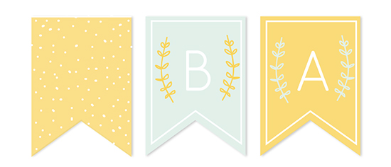 party decor - Oh! Baby Illustrated Shower Banner by Morgan Rapp