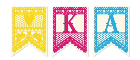 party decor - Pretty Papel Picado by Kelly Maron Horvath