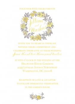 Yellow and Grey Family Wreath