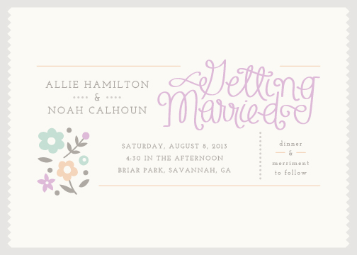 wedding invitations - Savannah by Amber Barkley