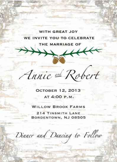 wedding invitations - Fall, in Love  by Jillian Barber