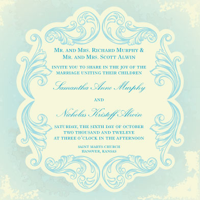 wedding invitations - Blissfully Blue by Caitlin Slomski