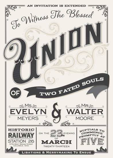 wedding invitations - A Blessed Union by GeekInk Design