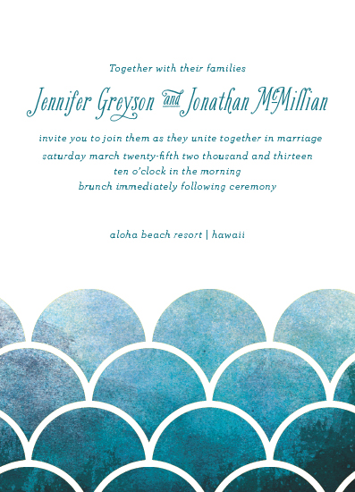 wedding invitations - bold and beachy by Rebecca Bowen