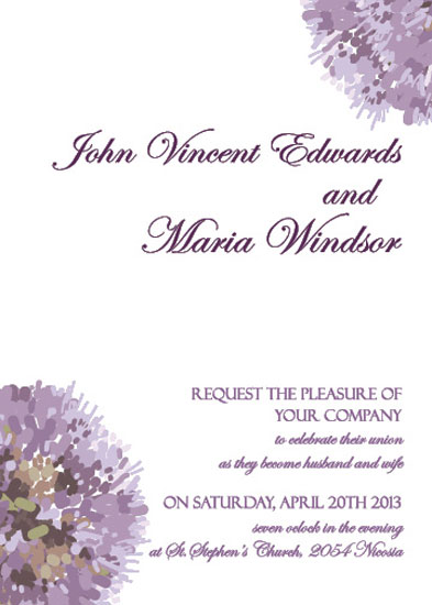 wedding invitations - Aroma by Stellina Creations