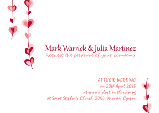 wedding invitations - sweetheart by Stellina Creations