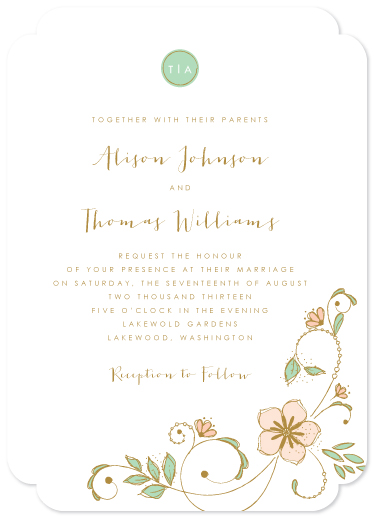 wedding invitations - Blush Garden by Serenity Avenue