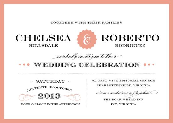 wedding invitations - Eloquence by Amanda Larsen Design